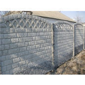 Установка бетонного еврозабора