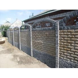 Еврозабор бетонный мрамор из бетона