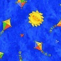 Затемняющая штора Roto ZRV 74х140 см голубая детская D-265