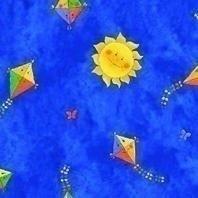 Затемняющая штора Roto ZRV 65х140 см голубая детская D-265