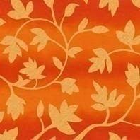 Затемняющая штора Roto ZRV 114х140 см оранжевые цветы D-263