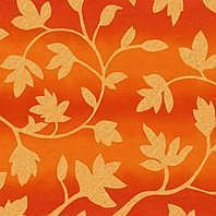 Затемняющая штора Roto ZRV 94х118 см оранжевые цветы D-263