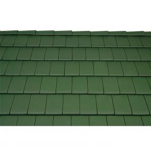 Черепица керамическая боковая правая Tondach Фигаро Делюкс Австрия 424х241 мм темно-зеленая