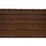 Черепица керамическая половинчатая Tondach Фигаро Делюкс Австрия 424х120 мм коричневая