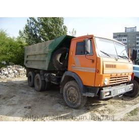 Вывоз строительного мусора самосвалами Камаз