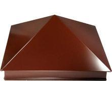 Шапка на столбик 380*380 мм коричневая