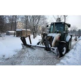 Прибирання снігу екскаватором