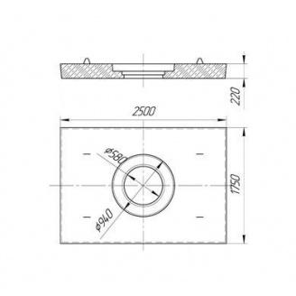 Плита дорожная ПД-6 разгрузочная с отверстием