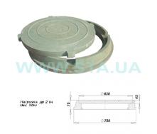 Люк полимерпесчаный легкий С.Т.А. 75x750 мм 2 т зеленый