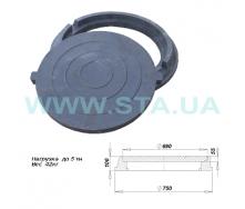 Люк полимерпесчаный легкий С.Т.А. 100x750 мм 5 т черный