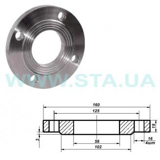 Фланец С.Т.А. плоский стальной Ру16 50 мм