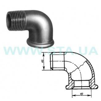 Угольник чугунный С.Т.А. В-Н 40 мм