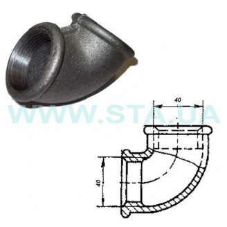 Угольник чугунный С.Т.А. В-В 40 мм