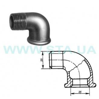 Угольник чугунный С.Т.А. В-Н 25 мм