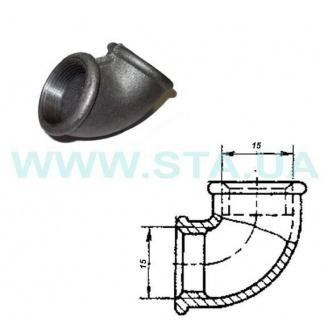 Угольник чугунный С.Т.А. В-В 15 мм