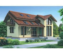 Проект каркасного дома с мансардой 224 м2