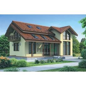 Проект каркасного будинку з мансардою 224 м2