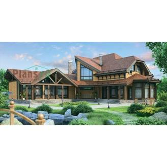 Проект деревянного отеля 386,7 м2