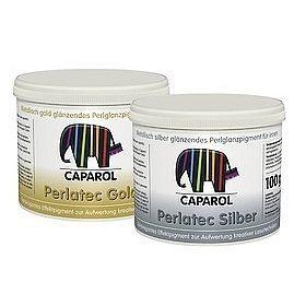 Лазурь настенная Caparol Perlatec Silber 0,1 кг серебристая