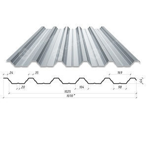 Профнастил Сталекс Н-44 1070/1025 мм 0,50 мм AlZn Люксембург (Arcelor Mittal)