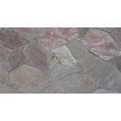 Натуральний камінь кварцит 1 см сіро-червоний