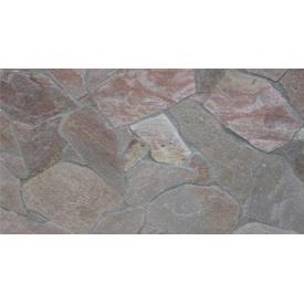 Натуральный камень кварцит 1 см серо-красный