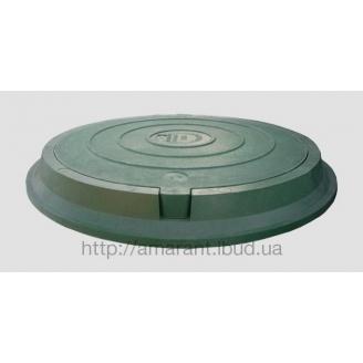 Люк канализационный полимерпесчаный легкий 3 т зеленый