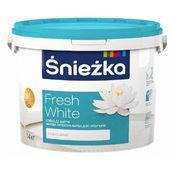 Матовая латексная краска Sniezka Fresh White 7 кг снежно-белая