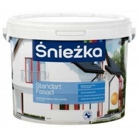 Акрилова фарба Sniezka Standart fasad 4,2 кг біла