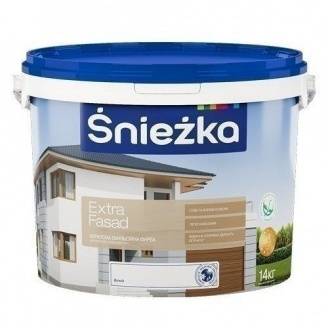 Акриловая краска Sniezka Extra fasad 14 кг белая