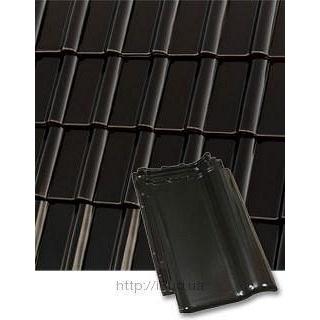 Черепица керамическая Roben Piemont 472*290 мм черно-коричневая глазурованная