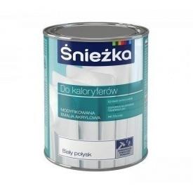 Модифицированная акриловая эмаль Sniezka для радиаторов 0,75 л белый