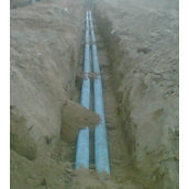 Установка труби сталевої водопровідної 57 мм