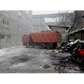 Вывоз мусора самосвалом КАМАЗ