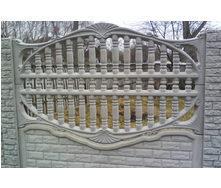Забор декоративный железобетонный №4 Штахетный с камнями 2х2 м