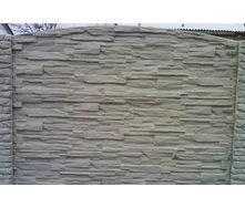 Забор декоративный железобетонный №6 Рваный камень глухой 2х2 м