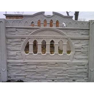 Забор декоративный железобетонный №2 Старый город 2х2 м