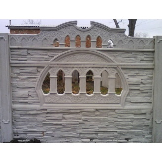 Забор декоративный железобетонный №2 Старый город 1,5х2 м