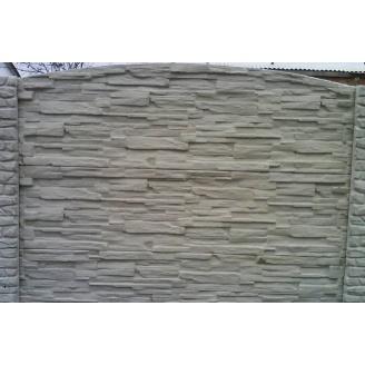 Забор декоративный железобетонный №6 Рваный камень глухой 1,5х2 м