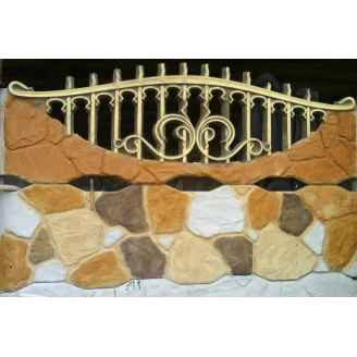 Забор декоративный железобетонный №1к Рваный камень 2х2 м