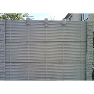 Забор декоративный железобетонный №12 Лоза с горшками 1,5х2 м