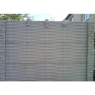 Забор декоративный железобетонный №12 Лоза с горшками 2х2 м