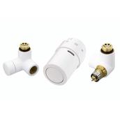 Комплект для подключения к радиаторам справа Danfoss RAX-set белый RAL9016 (013G4007)