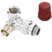 Угловой правый трехосевой клапан Danfoss RA-NCX Ду 15 (013G4239)