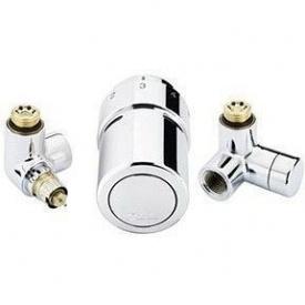 Комплект для підключення до рушникосушки зліва Danfoss RAX-set хромований (013G4133)