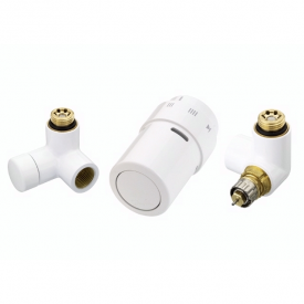 Комплект для підключення до радіаторів справа Danfoss RAX-set білий RAL9016 (013G4007)