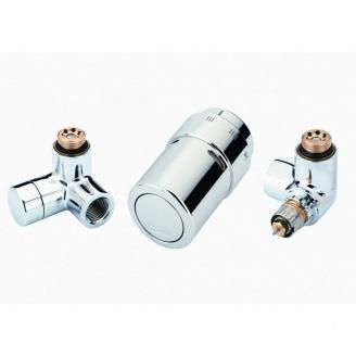 Комплект для подключения к радиаторам справа Danfoss RAX-set хромированный (013G4003)