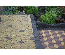 Тротуарна плитка Золотий Мандарин Маргарита на сірому цементі 60 мм