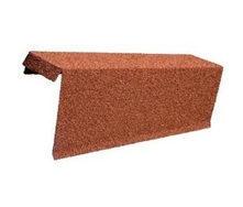 Торцевая планка одинарная правая Metrotile 435 мм красная