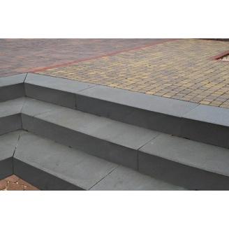 Ступень Золотий Мандарин на сером цементе 1000х150х350 мм